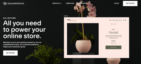 squarespace ecommerce restaurant website builder homepage
