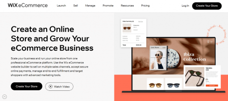 wix restaurant website builder ecommerce homepage