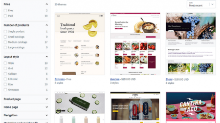 shopify food and drink templates