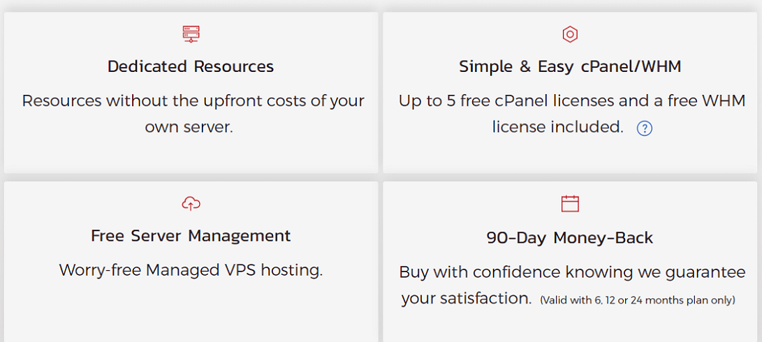 inmotion vps hosting features