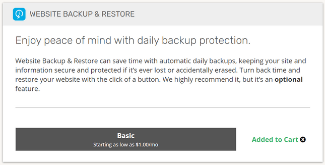 ipage backups and restores