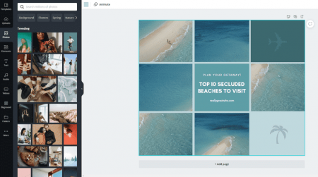 canva image library and template