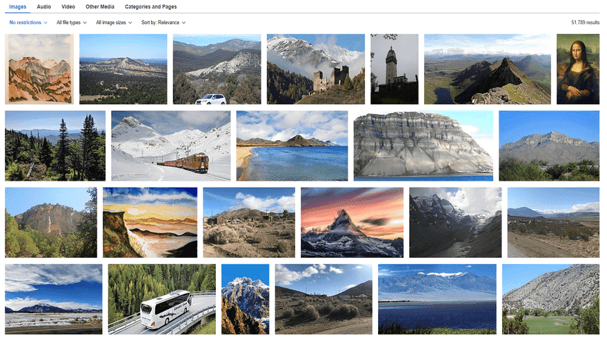 wikimedia commons image gallery