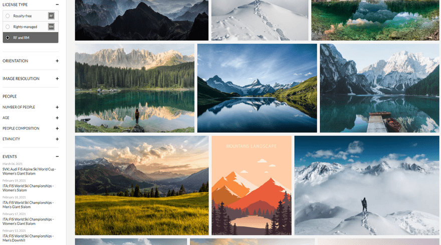 getty images image mountain search with filters