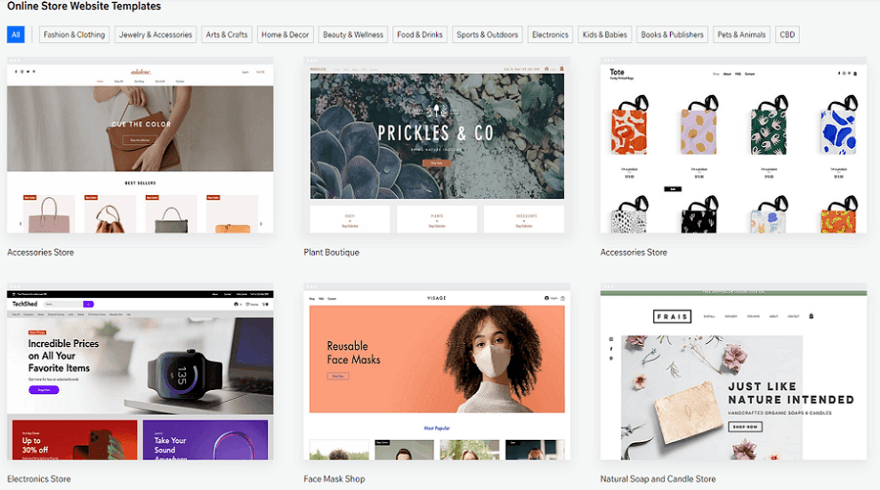 wix online store templates