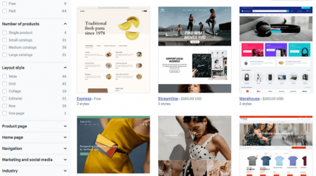 shopify ecommerce website themes