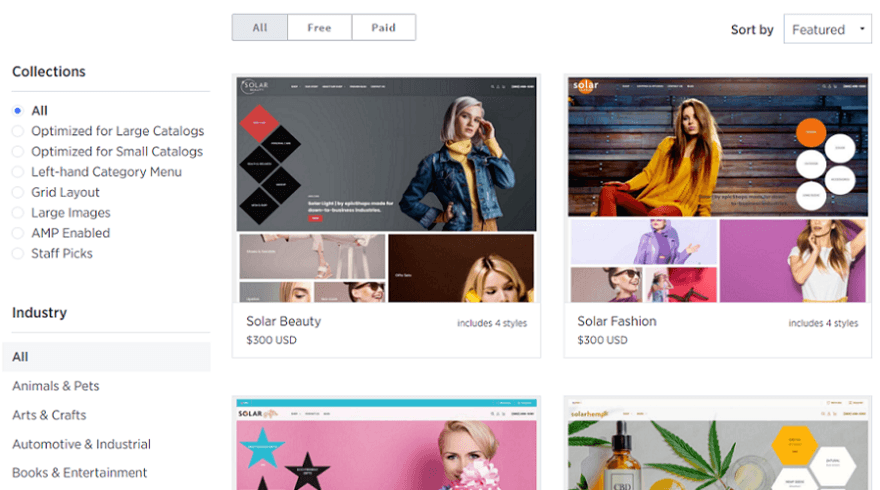 bigcommerce online store themes