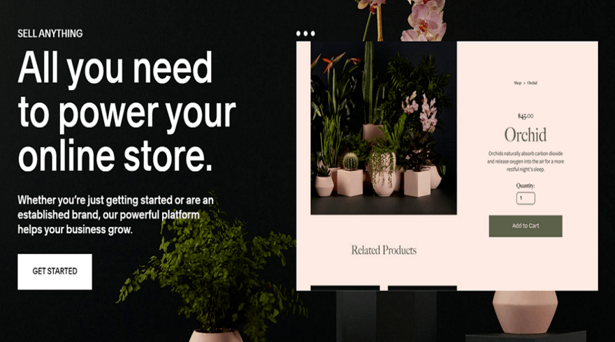 squarespace ecommerce website builder homepage