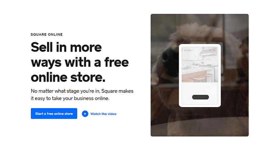 square online ecommerce website builder homepage