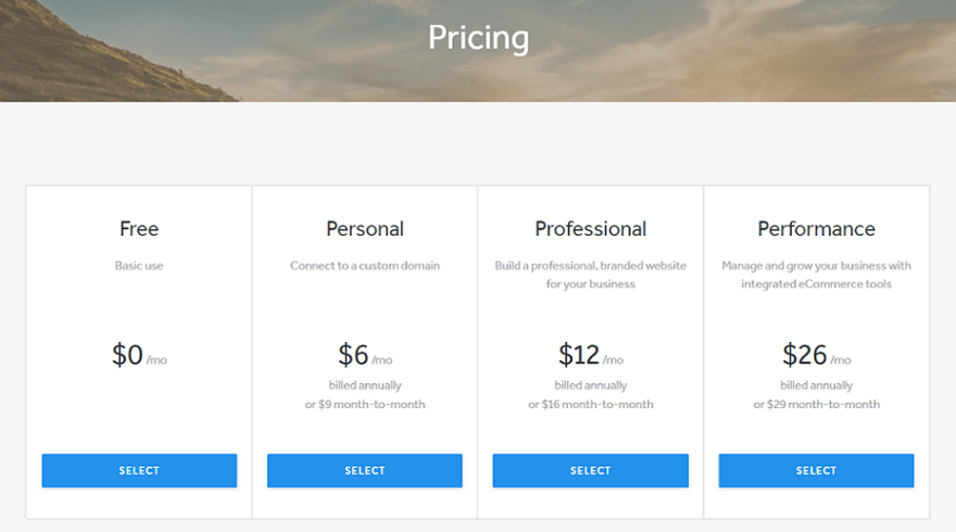 you can start selling online through weebly for free