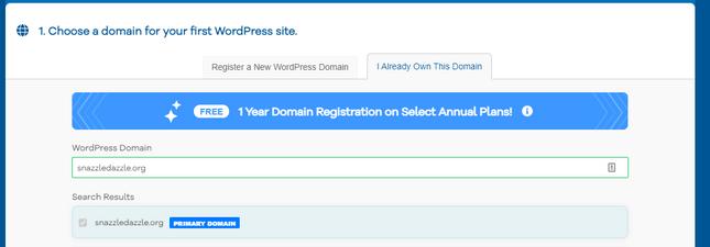 hostgator already own domain primary domain