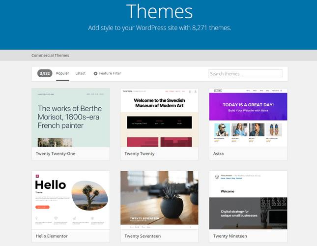 hostgator wordpress install theme