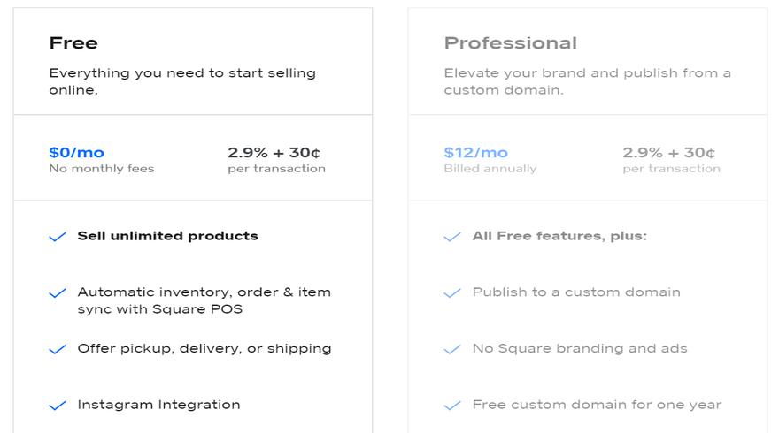 square pricing plans