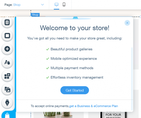 adding ecommerce tools to wix