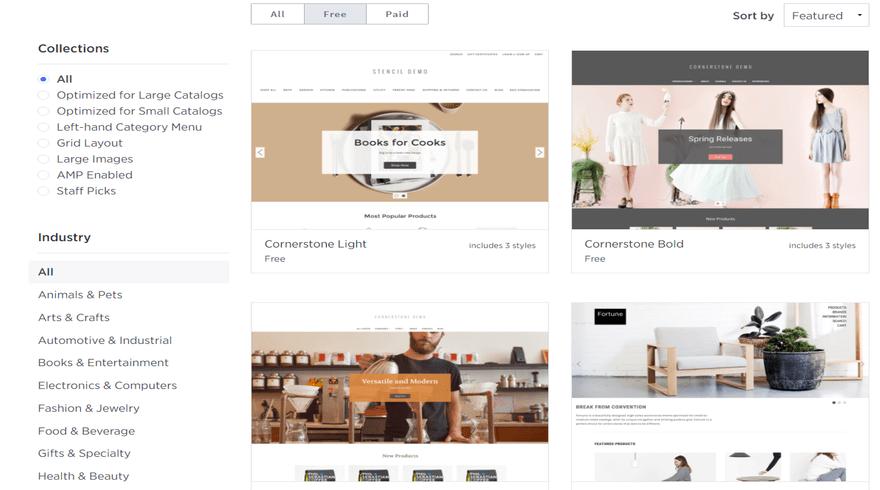 bigcommerce free theme options