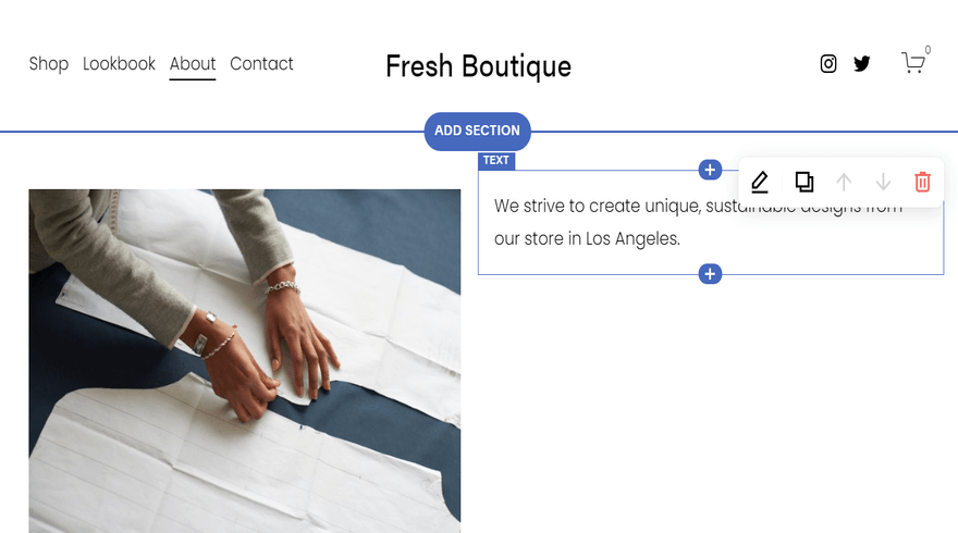 using the squarespace editor