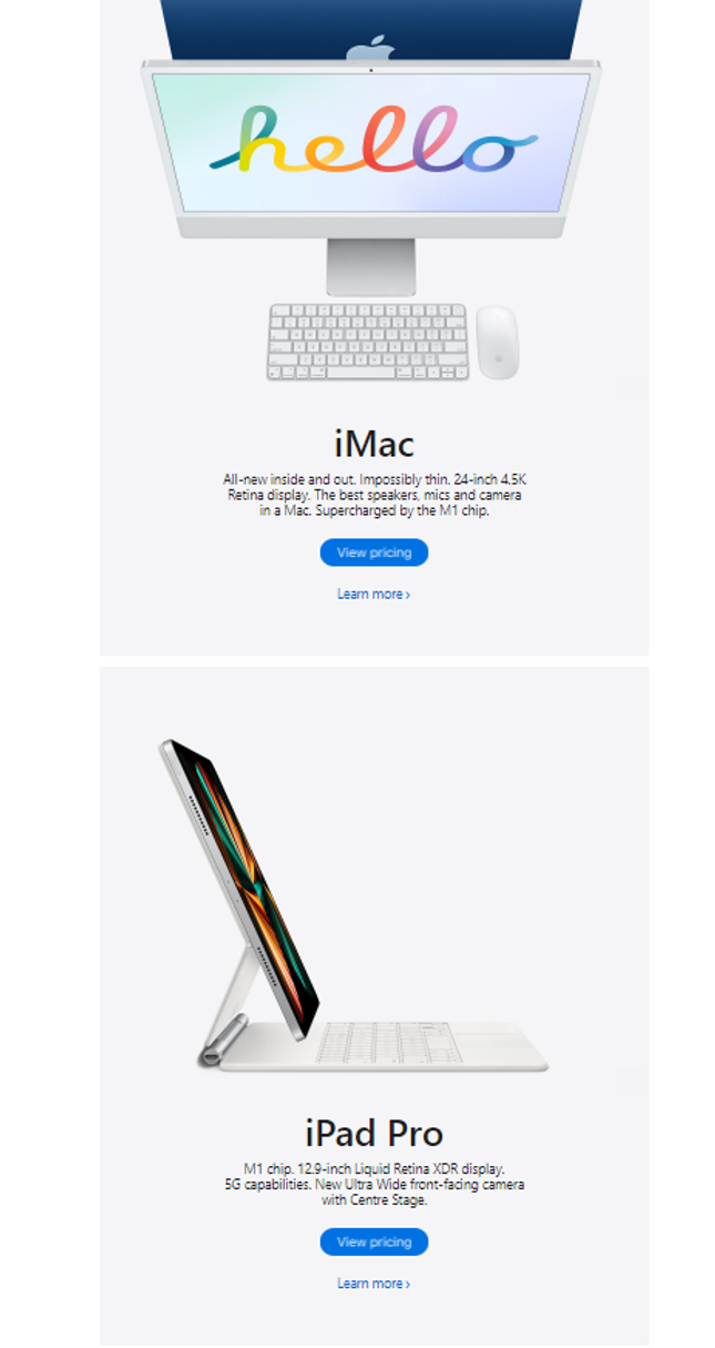 Apple Email Example