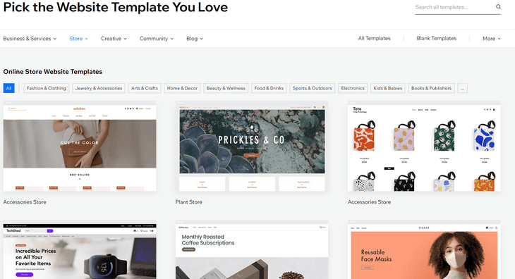 wix review template industries