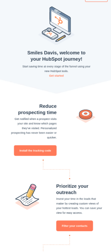 Hubspot Welcome Email Example