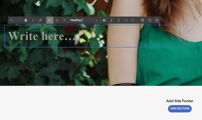 editing squarespace text boxes