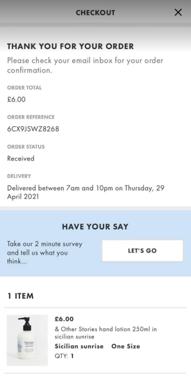 ASOS App Review Example