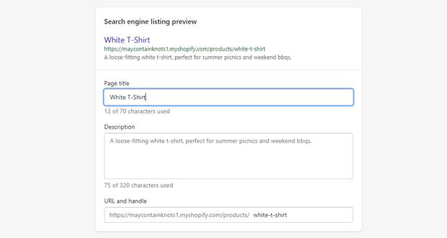 Add product SEO