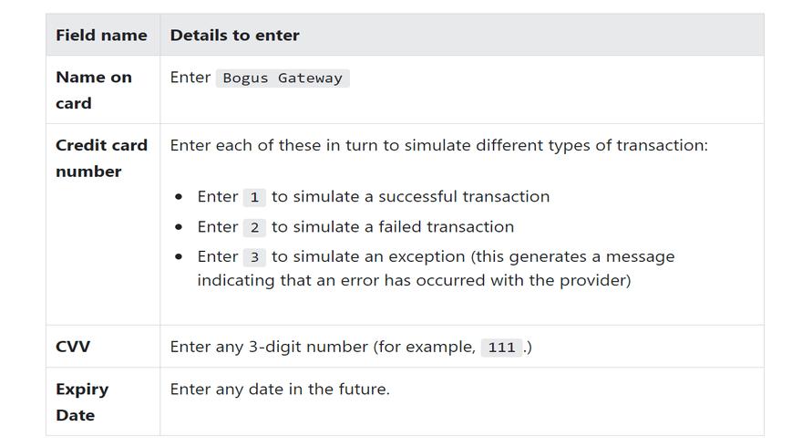 Bogus Gateway Details