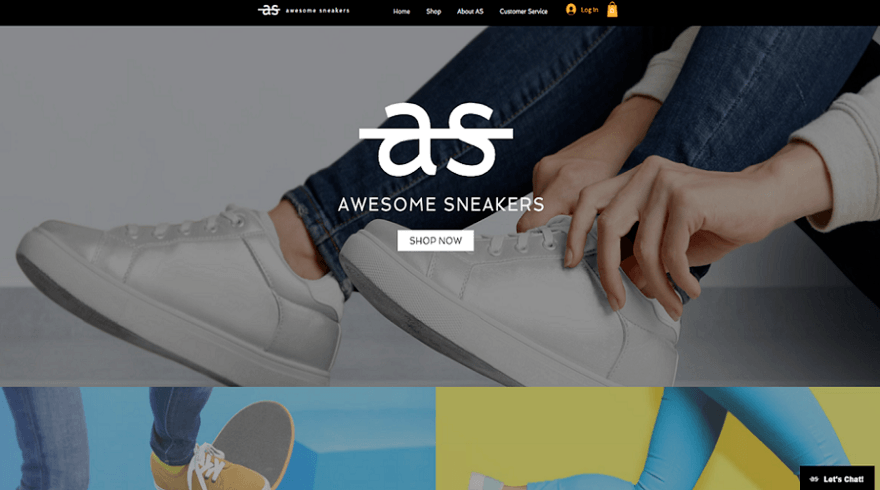 wix awesome sneakers template
