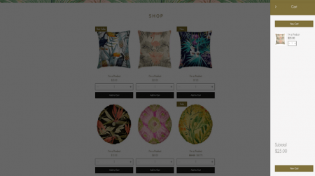 wix home accessories template