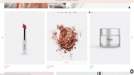 wix nude makeup store template