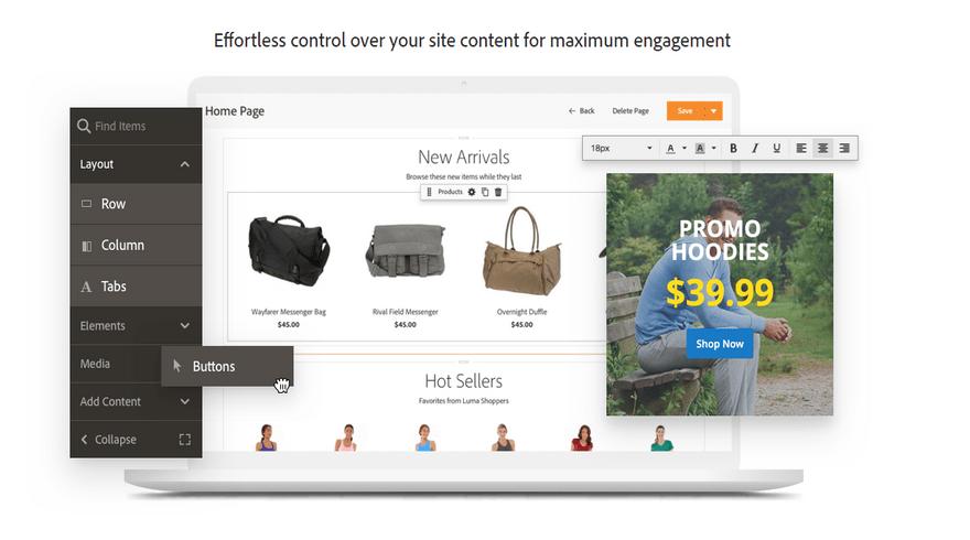 magento commerce enterprise page builder