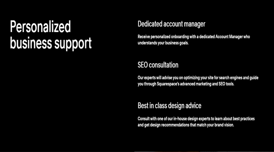 squarespace select support