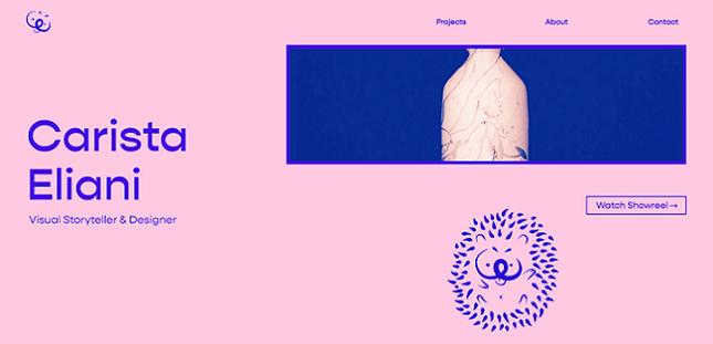 carista eliani portfolio built using editor x
