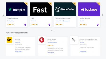 bigcommerce ecommerce software app market