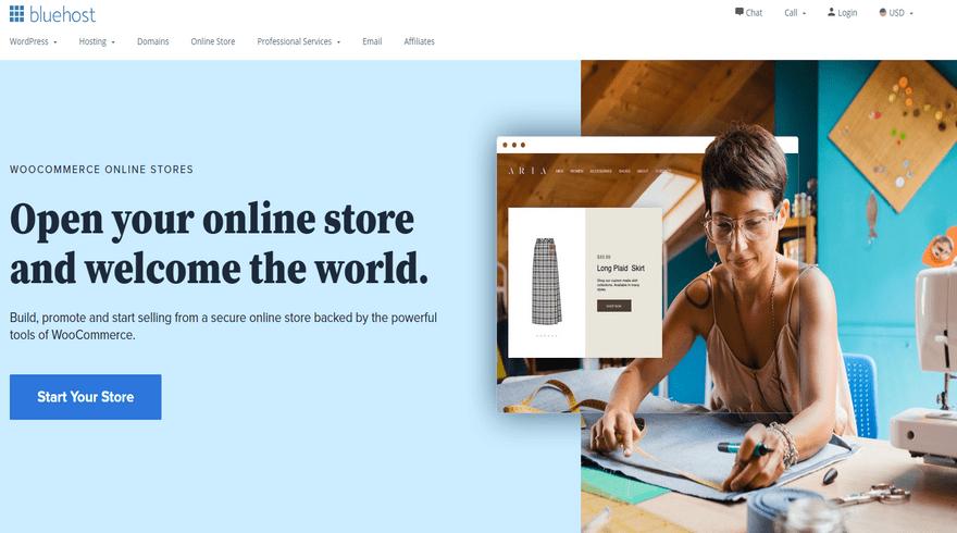 bluehost woocommerce ecommerce software hosting