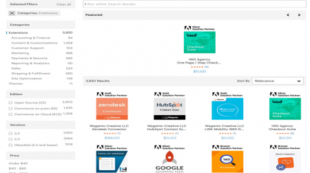 magento ecommerce software extensions marketplace