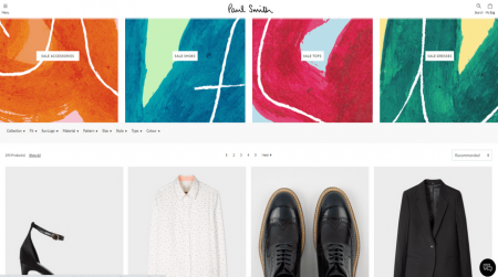 magento ecommerce software paul smith example