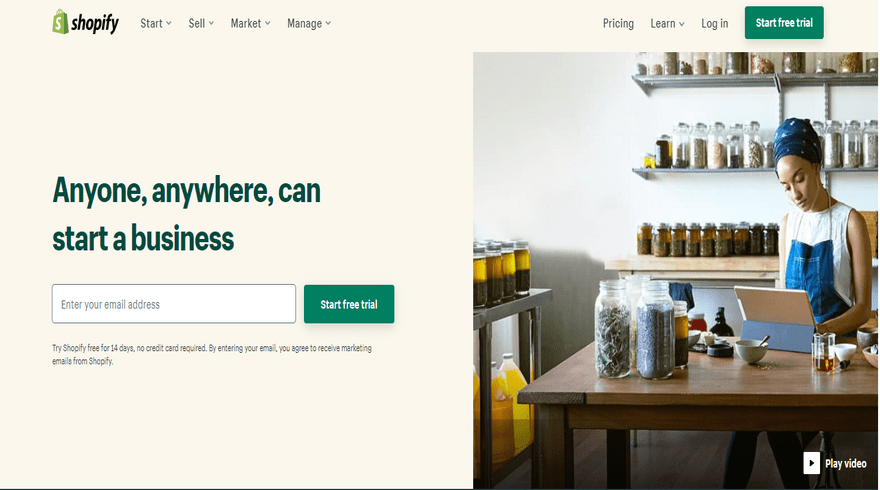 shopify best ecommerce software home