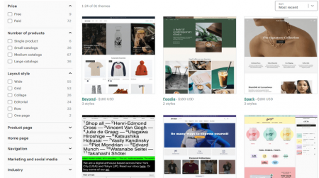 shopify best hosted ecommerce software themes