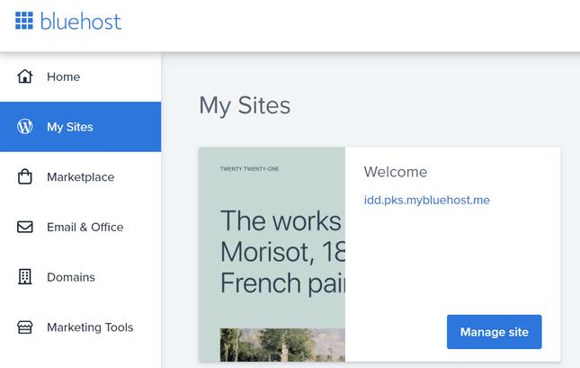 bluehost wordpress integration