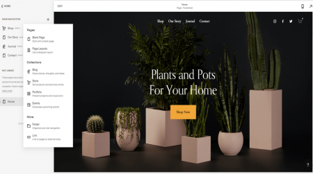 Squarespace Add Page