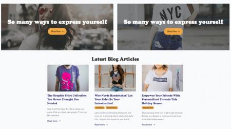 including a blog