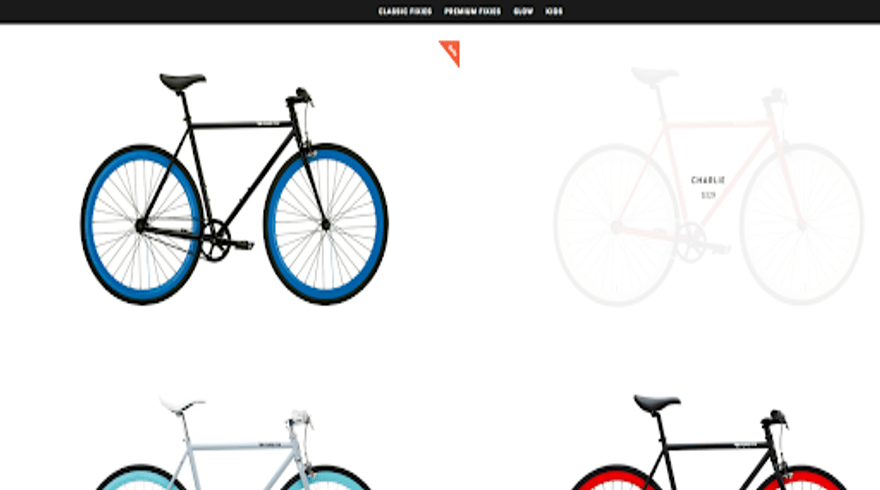 product page hover