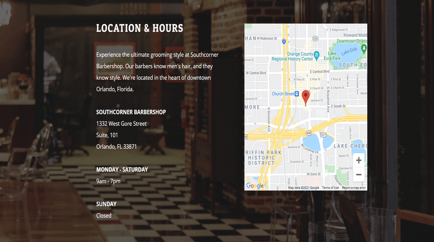 southcorner location home weebly theme