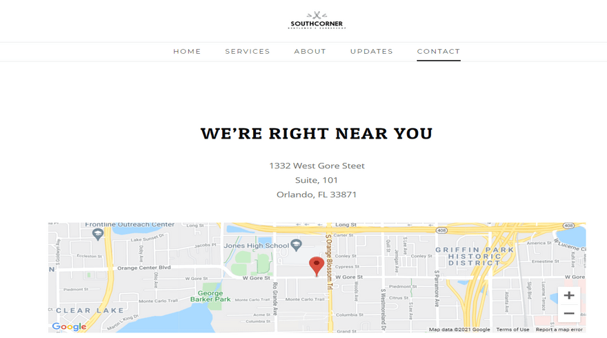 weebly southccorner business theme contact map