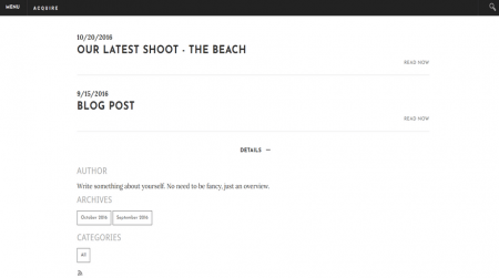 weebly business theme acquire blog