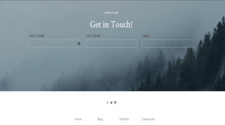 weebly portfolio template js photography get in touch
