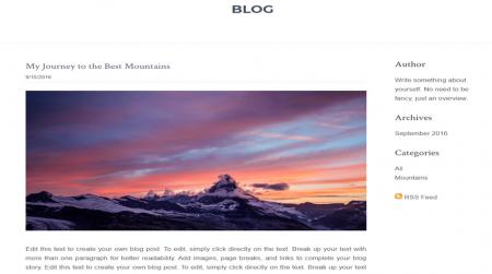 weebly portfolio theme js photography blog