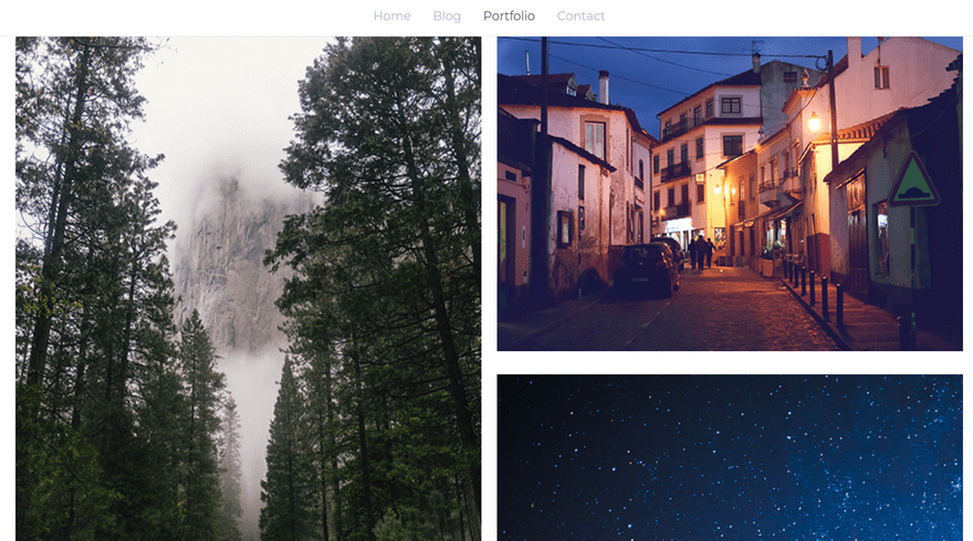 weebly portfolio theme js photography gallery