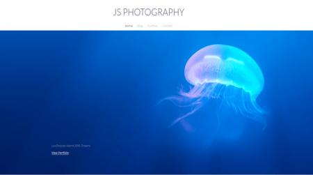 weebly portfolio theme js photography home